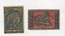 Patriotic Vintage match box labels CHINA or JAPAN  #833